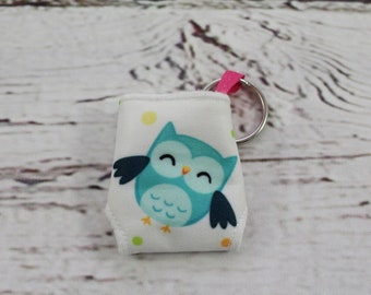 owl keychain - keychains for women - baby shower favor - present topper - baby shower gift - baby shower diaper cake - cloth diaper