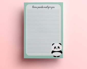 Panda Letter paper note pad | writing pad |  stationery | writing pad | pen pal stationary | letter stationary | memopad | List pad