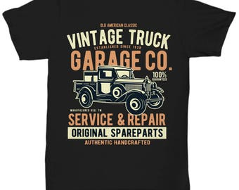 Vintage Truck Garage Service and Repair T-shirt