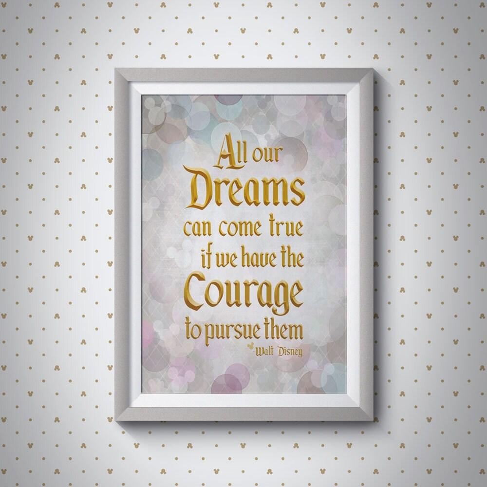 Dreams Can Come True - Walt Disney Quote | Giclee