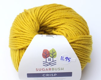 15%OFF Superwash Merino Wool in Crisp- Good Gold Mustard Yellow DK Double Knit  Weight Yarn 95 yards 87 Meters 50gram Ball for knitting