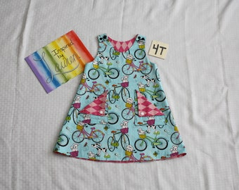 Reversible Pinafore - Size 4T