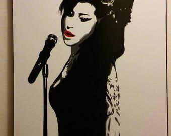 Amy Winehouse (b&w)