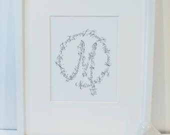 "Custom Calligraphy ""Monogram"""