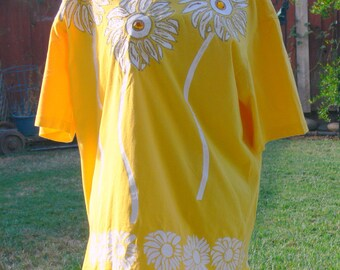 yellow plus size tee shirt