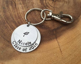 Graduation Gift / Personalized Keychain / Class of 2018 / Graduation Keychain / Class of 2018 Gift / Personalized Graduation GIft