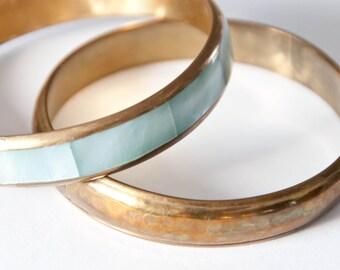 Brass bracelet set