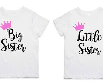 Iron On Letters, DIY Big Sister & Little Sister Shirt, DIY Big Sister Little Sister Outfits, Fabric Applique Design, Gift For Girls