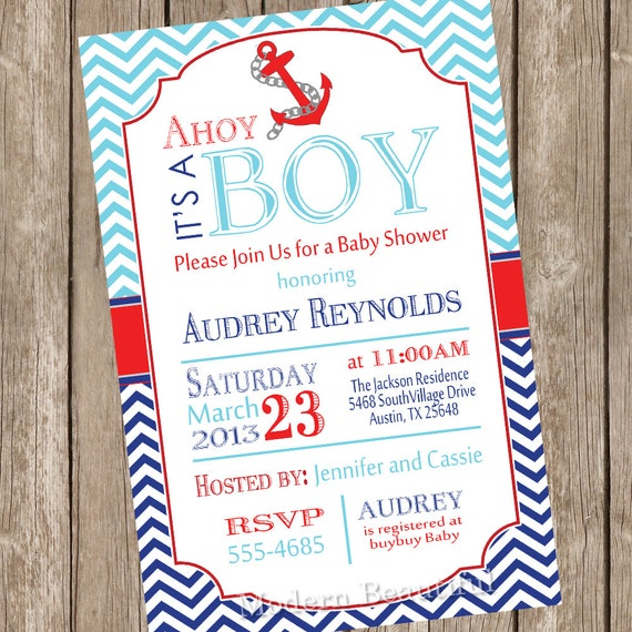 it its a shower ahoy invitations pixels nautical baby s boy ba x for boys invitation