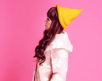 Belle flèche la laine sorcière ne curling aucune utilisation chapeau pointu chapeau de Noël chapeau bonnet tricot