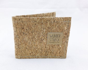 Cork purse with glitter and viewing window
