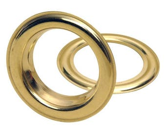 50 grommets 40 mm brass crimp - different finishes - eyelet curtains