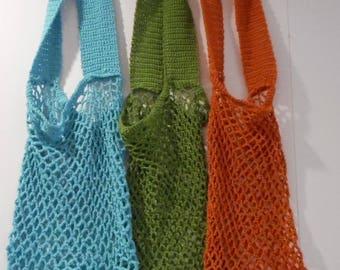 Handmade Beach Bag / Market Tote / 100% Cotton Crochet NEW