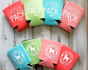 Harbor Hound Pack Can Cooler - Can Cooley - Beer Cooler - Collapsible Can Cooler - Can Insulator - Coldy Holdy - Coastie - can sleeve