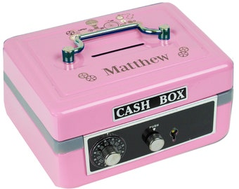 Personalized Steampunk Pink Cash Box