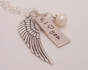 Remember Your Loved Ones - Personalized sterling silver hand stamped necklace