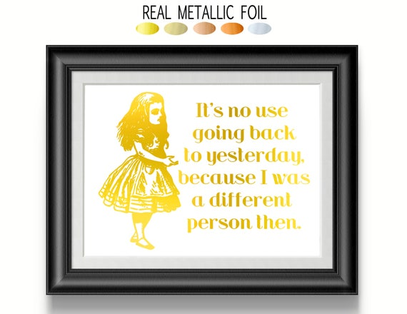 Alice In Wonderland Wall Art Cubicle Wall Decor Gold Wall