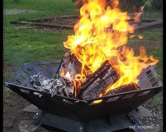 "36"" Hexagon .25"" Steel Plate Modular Fire Pit Kit FREE SHIPPING"