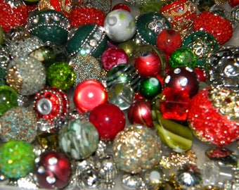 NEW 20/pc Red/Green Merry Christmas MIX Jesse James Loose Assorted Random Mixed Bag of different