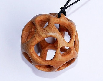 Items similar to wood pendant wooden pendant hand carved pendant wooden pendant hand carved wood pendant aloadofball Image collections