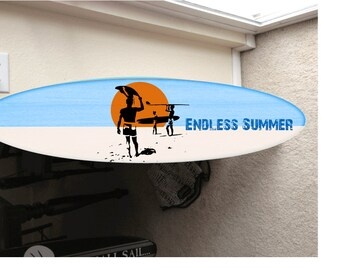 Endless summer surf board surfboard decor hawaiian beach surfing beach decor