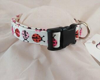 Pet Collars, Dog Collar, Cat Collar, Small Dog Collar, Adjustable Collar, Lady Bug Collar, Cute Collar, Dog Collars, Collier de chien