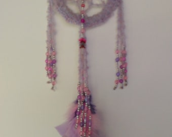 Dream Catcher Purple/Pink Crochet