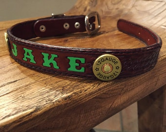 Custom 12 Gauge Dog Collar