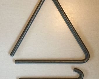 Vintage iron triangular bell dinner bell camp