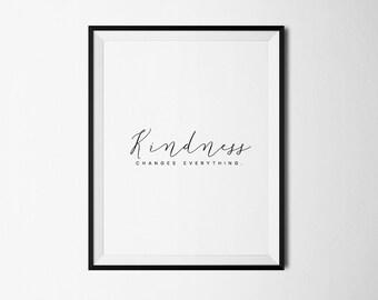 Be kind print, Kindness print, Kindness quotes, Kindness quote, Kindness poster, Kindness printable, Inspirational print,  Printable art