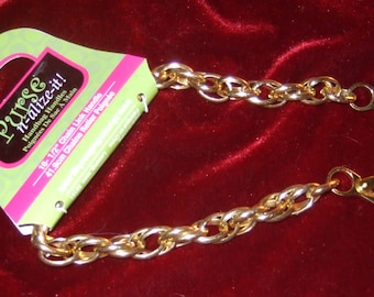 16 1/2 inch goldtone metal purse handles by Purse n-alize-it with lobster claw hardware