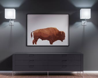 Buffalo Poster, Bison Print, Buffalo Print, Bison Art, Buffalo Art, Buffalo Wall Art, Buffalo Photo, Animal Decor, Printable Buffalo Decor