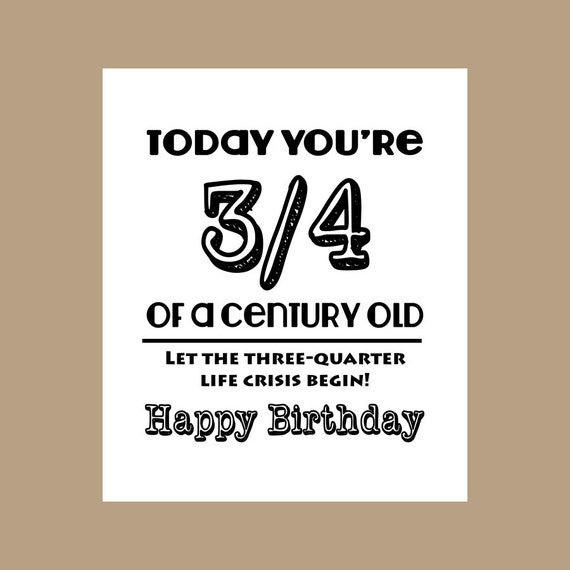 75th birthday card 34 century old card milestone card 1943 like this item bookmarktalkfo Choice Image