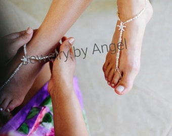 Starfish Foot Jewelry  Starfish Wedding Jewelry Barefoot Sandals