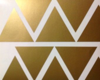 Gold Triangle Wall Decal Baby Nursery Wall art Modern Nursery Decal kid's bedroom living room kitchen dining area long life safe apartment