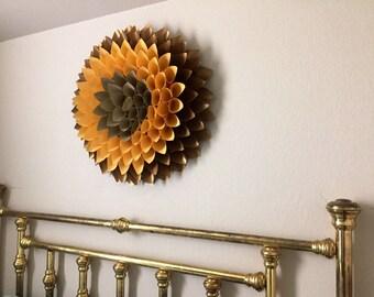 Dahlia wall piece