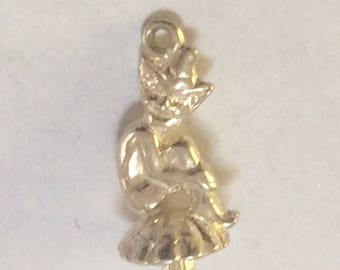 Sterling silver Elf charm vintage # S 760