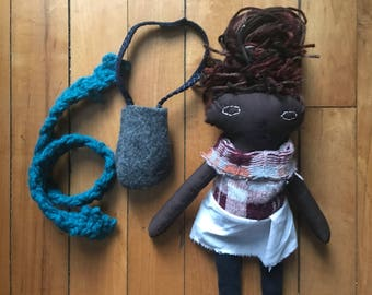 Waldorf inspired Rag Doll of Colour