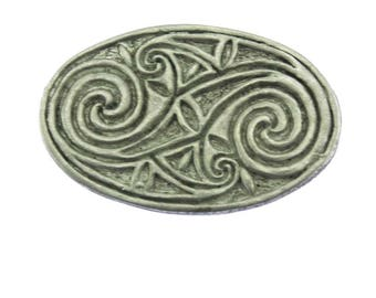 Large Pewter Celtic Knot brooch, Silver Celtic Knot Pin, Large Silver Brooch