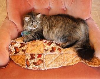Cat Bed, Cat Mat, Fish Cat Mat, Colorado Catnip Bed, Cat Blanket, Washable Cat Mat, Pet Pad, Pet Couch Cover, Handmade Cat Mat, Catnip Mat