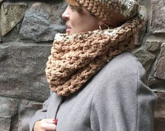 Super Chunky Crochet Cowl and Hat Set