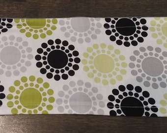 Green & Black Circles Male Dog Belly Band - S