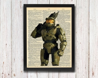 Halo Master Chief Dictionary Art