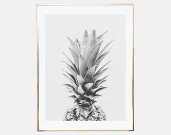 pineapple print, pineapple printable, pineapple printable wall art, printable wall art, pineapple decor, tropical print, downloadable prints
