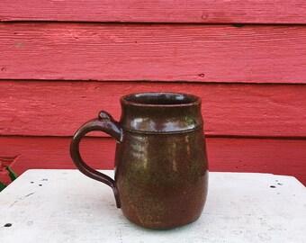 Red Stoneware 16 oz. Stein