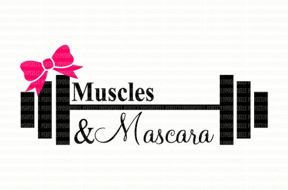muscles  u0026 mascara barbell weights fitness svg digital file dxf