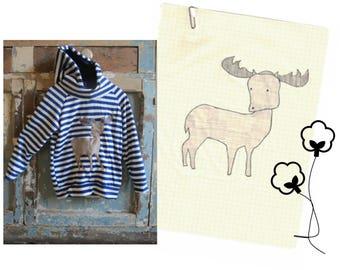 woodland animal applique pattern: deer