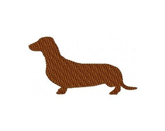 Dachshund Embroidery Design - Instant Download
