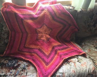 Crochet 6 point star blanket