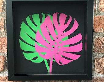 Exotic Leaf Botanicals 3 - Original paper craft art.